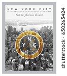 photo print new york city...   Shutterstock . vector #650265424