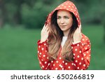 portrait of a young woman in...   Shutterstock . vector #650266819