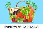 vegetable in basket background
