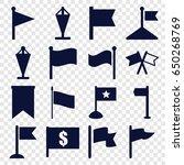 pennant icons set. set of 16...