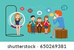 current communication system... | Shutterstock .eps vector #650269381