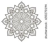 mandala. ethnic decorative...   Shutterstock .eps vector #650270194