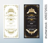 wedding invitation vintage... | Shutterstock .eps vector #650272021