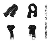 various kinds of scarves ... | Shutterstock .eps vector #650275081