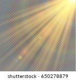 vector transparent sunlight...   Shutterstock .eps vector #650278879