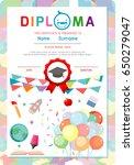 diploma template for kids ...   Shutterstock .eps vector #650279047