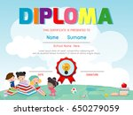 diploma template for kids ... | Shutterstock .eps vector #650279059