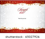 christmas background with space ... | Shutterstock .eps vector #65027926