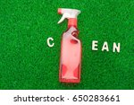 cleaning product and nature... | Shutterstock . vector #650283661