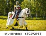 Knight On Horseback. Medieval...