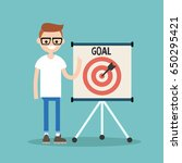 target conceptual illustration. ... | Shutterstock .eps vector #650295421