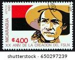 nicaragua   circa 1981  a stamp ... | Shutterstock . vector #650297239