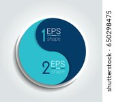 two element circle infographic... | Shutterstock .eps vector #650298475