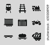 train icons set. set of 9 train ...   Shutterstock .eps vector #650308909