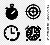 accurate icons set. set of 4...