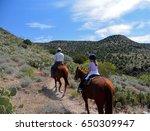 Young Girl Horseback Riding...