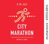 cool concept for city marathon... | Shutterstock .eps vector #650313841