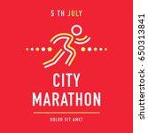 cool concept for city marathon... | Shutterstock .eps vector #650313841