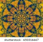 seamless lime kaleidoscope... | Shutterstock . vector #650316667