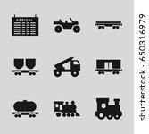 train icons set. set of 9 train ...   Shutterstock .eps vector #650316979