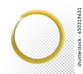 gold glittering circle of paint ... | Shutterstock .eps vector #650319631