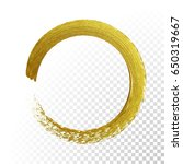 gold circle glitter texture... | Shutterstock .eps vector #650319667