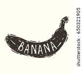 hand drawn graphic banana print | Shutterstock .eps vector #650321905