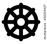 wheel of dharma vector icon | Shutterstock .eps vector #650324437