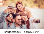 summer holidays vacation and... | Shutterstock . vector #650326144
