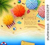 beautiful tropical beach | Shutterstock .eps vector #650328199