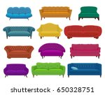 sofa and couches colorful... | Shutterstock .eps vector #650328751