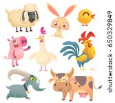 collection of cartoon farm... | Shutterstock .eps vector #650329849