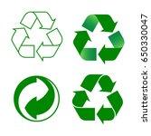 recycling symbols | Shutterstock .eps vector #650330047