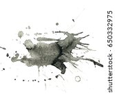 isolated black ink splatter... | Shutterstock . vector #650332975