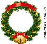 vector christmas bells with... | Shutterstock .eps vector #65033347
