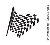 checkered racing flag isolated