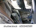 repairing car fixed in garage | Shutterstock . vector #650340589
