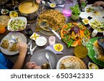 food on the table | Shutterstock . vector #650342335
