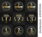 1st  2nd  3rd place logo's with ... | Shutterstock .eps vector #650345344