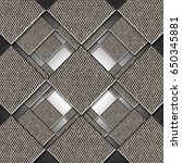 silver metallic geometric... | Shutterstock . vector #650345881