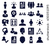 profile icons set. set of 25... | Shutterstock .eps vector #650351095