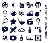 shiny icons set. set of 25... | Shutterstock .eps vector #650351125