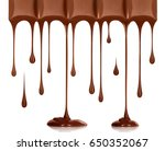 chocolate dripping from... | Shutterstock . vector #650352067