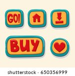 hand drawn 3d web buttons for... | Shutterstock .eps vector #650356999