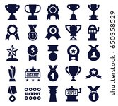 prize icons set. set of 25... | Shutterstock .eps vector #650358529