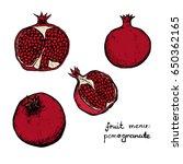 fruit menu   pomegranate  ... | Shutterstock .eps vector #650362165