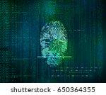 futuristic blue    abstract...   Shutterstock . vector #650364355