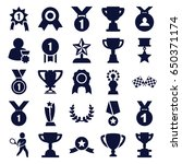 champion icons set. set of 25... | Shutterstock .eps vector #650371174