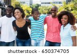 group of laughing african... | Shutterstock . vector #650374705