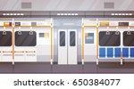 empty subway car interior... | Shutterstock .eps vector #650384077